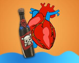 Účinky rumu, srdce a rum